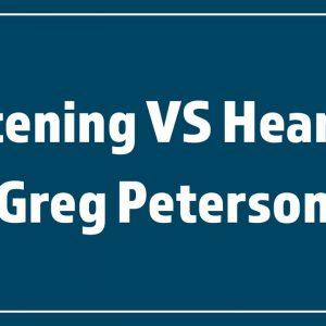 10/25/20 – Greg Peterson – Listening VS Hearing – Daniel 5:18-28 – Stand Alone